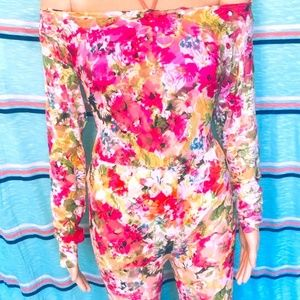 Floral Swimwear Cover Catsuit